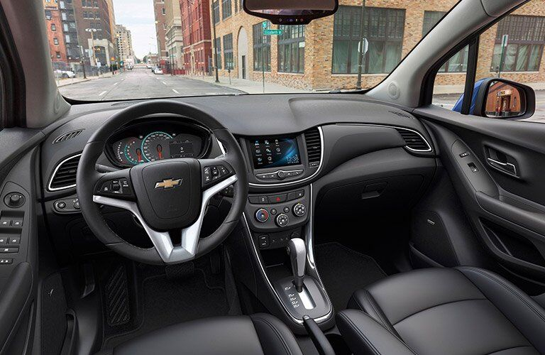 2017 Chevy Trax interior front view from driver's seat