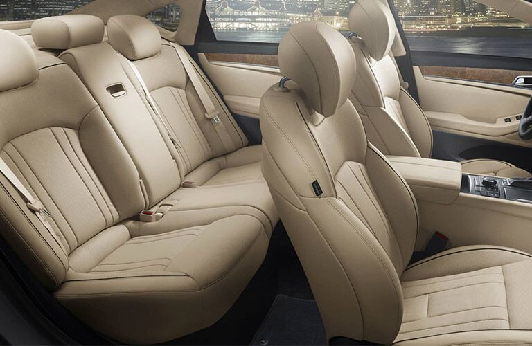 creamy luxurious interior seating of the 2017 Genesis G80