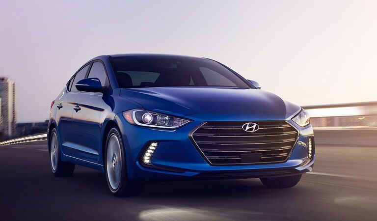 blue 2017 Hyundai Elantra looking stylish