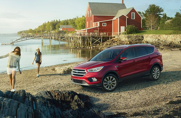 2017 Ford Escape on the beach