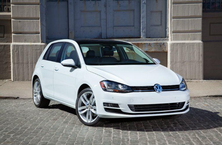 new VW Golf front exterior white