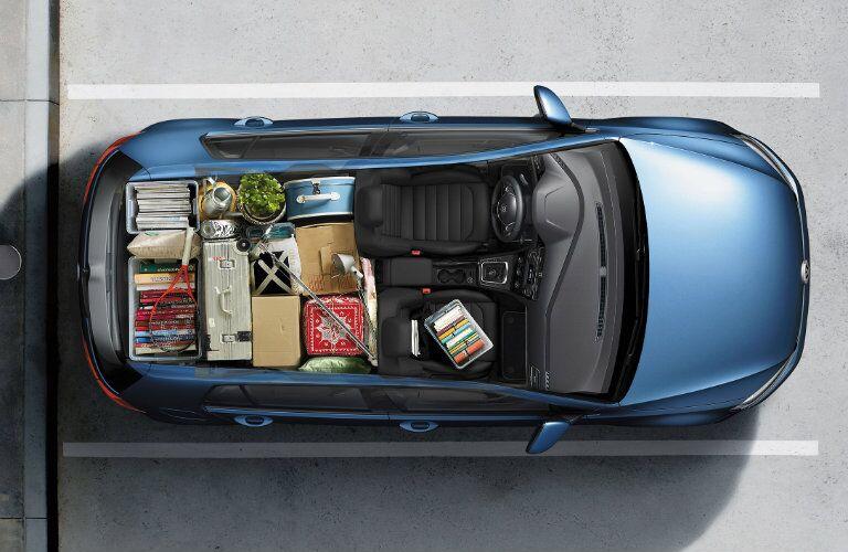 2015 Volkswagen Golf versatility interior rear seat folded cargo