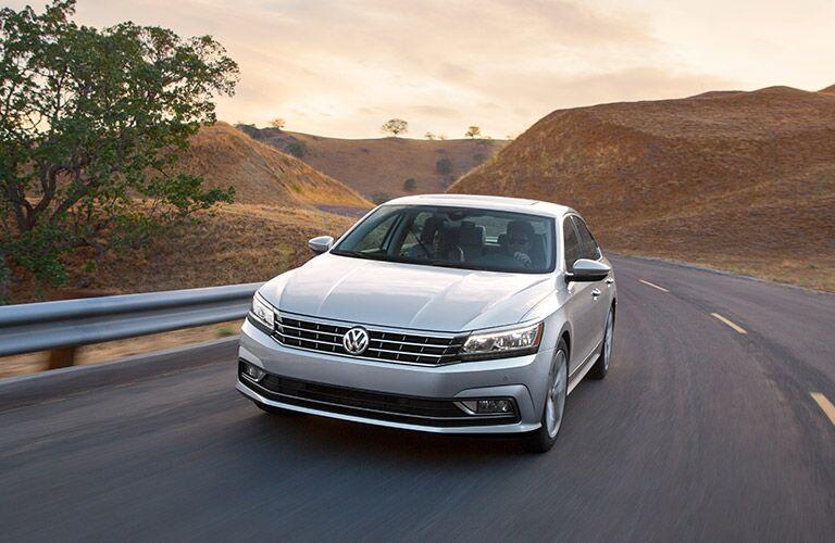 2016 VW Passat on rural highway
