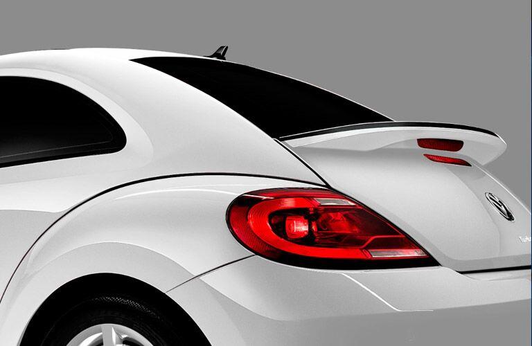 2017 VW Beetle rear spoiler detail