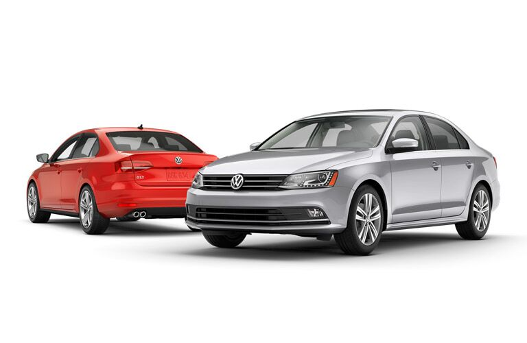 2015 VW Jetta exterior red and silver
