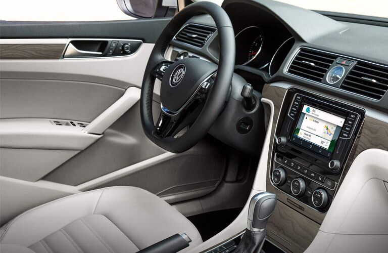 dash and infotainment system of vw passat