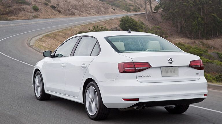 rear view of 2016 volkswagen jetta in white