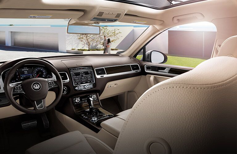view from rear seat in vw touareg