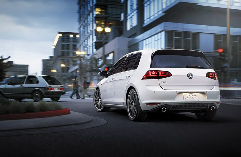 rearview of the 2016 volkswagen golf gti