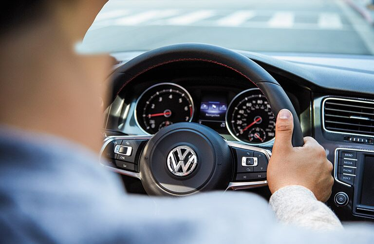steering wheel and buttons of golf gti