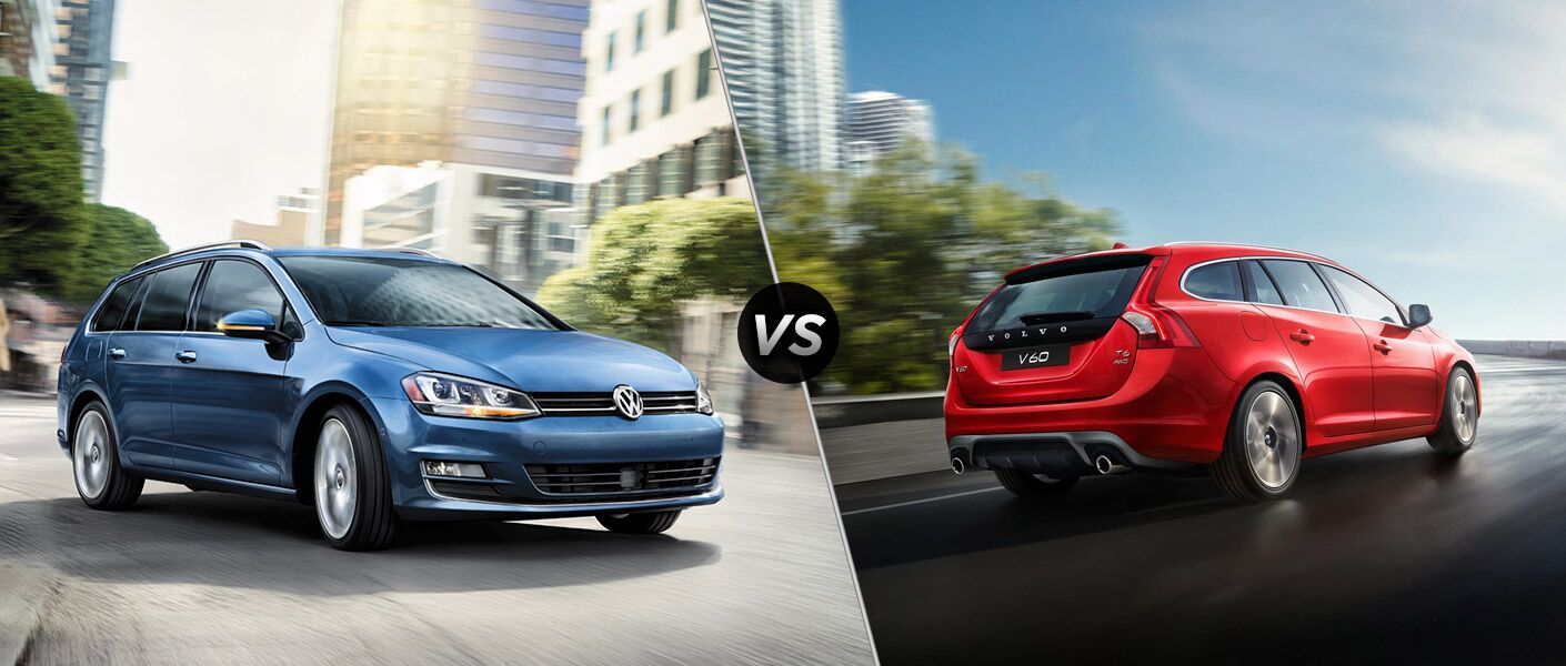 The 2016 VW Golf SportWagen vs 2016 Volvo V60
