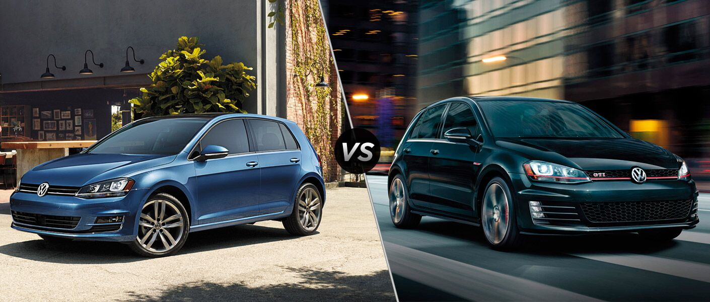 2016 VW Golf vs 2016 VW Golf GTI