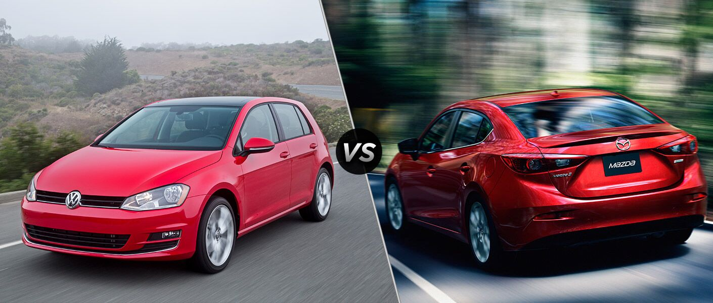 2016 Volkswagen Golf vs 2016 Mazda 3