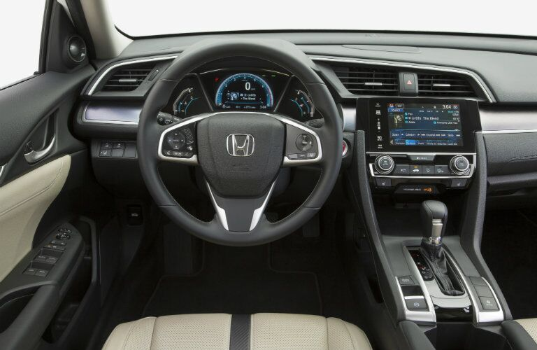 2016 honda civic interior features and technology