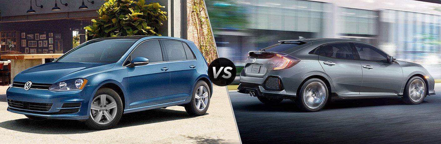 2017 VW Golf vs 2017 Honda Civic Hatchback
