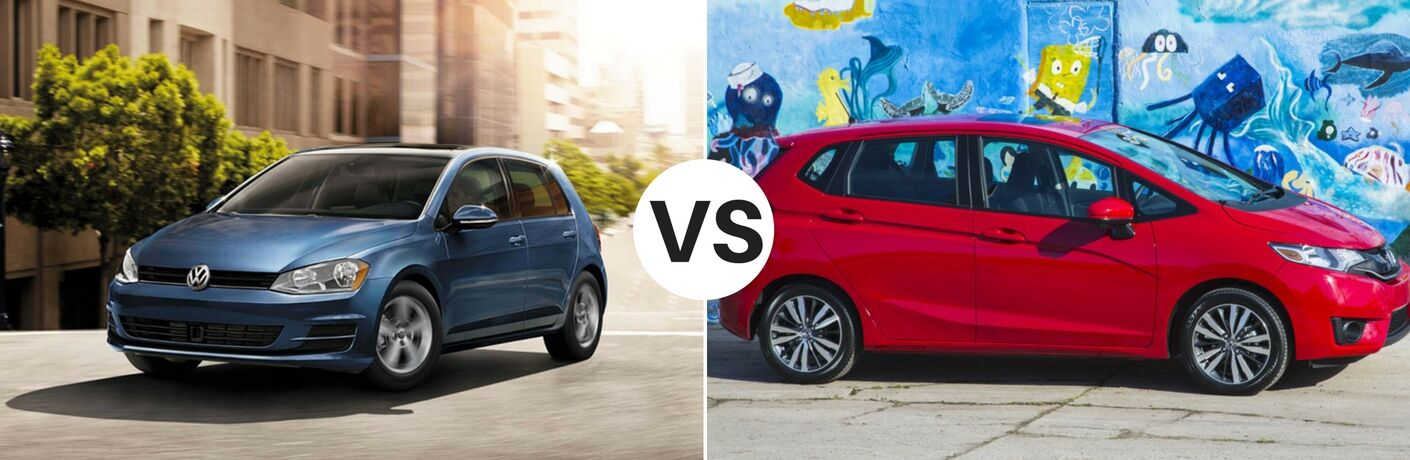 2017 Volkswagen Golf vs 2017 Honda Fit