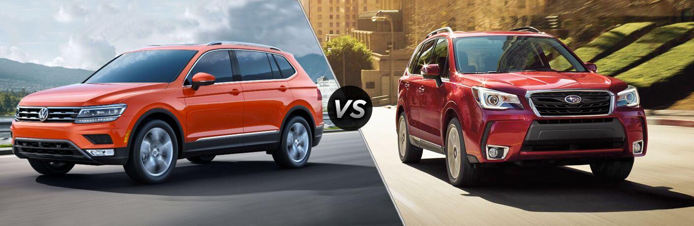 2019 Volkswagen Tiguan vs. 2019 Subaru Forester