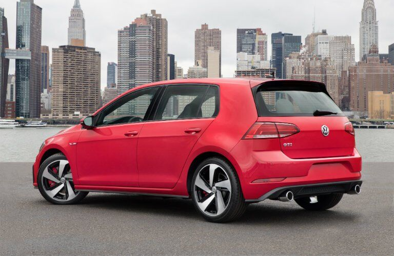 2018 Volkswagen Golf GTI red back