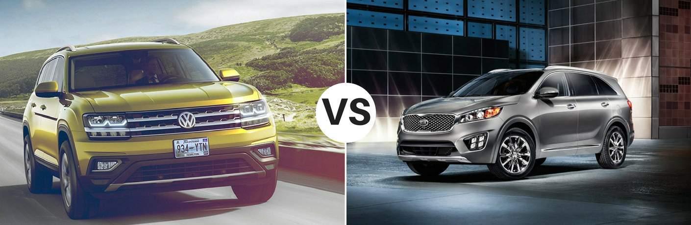 2018 Volkswagen Atlas vs 2017 Kia Sorento