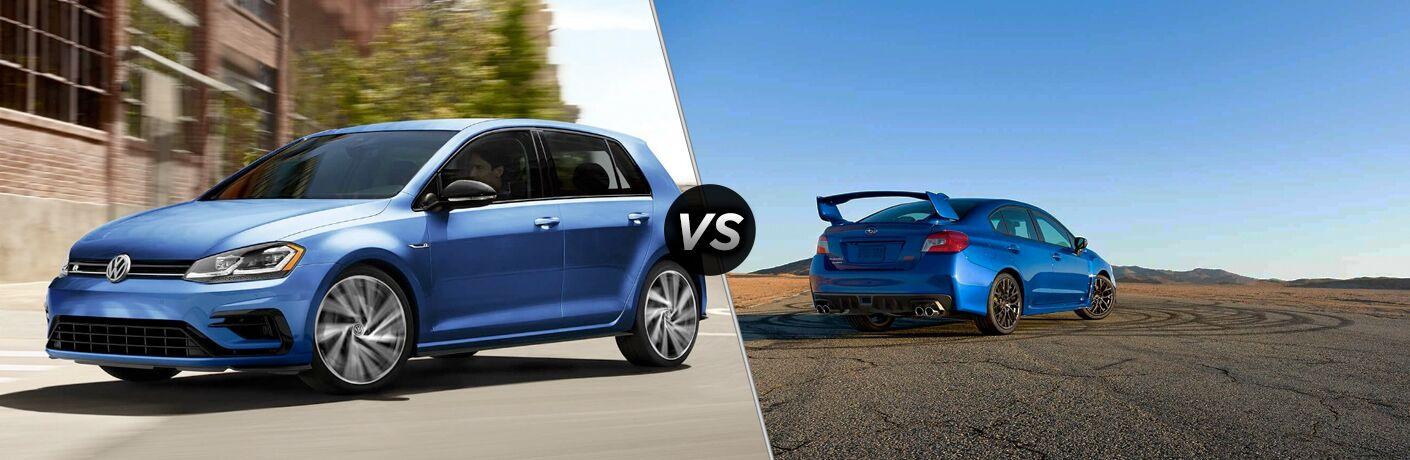 2019 Volkswagen Golf R vs. 2019 Subaru WRX
