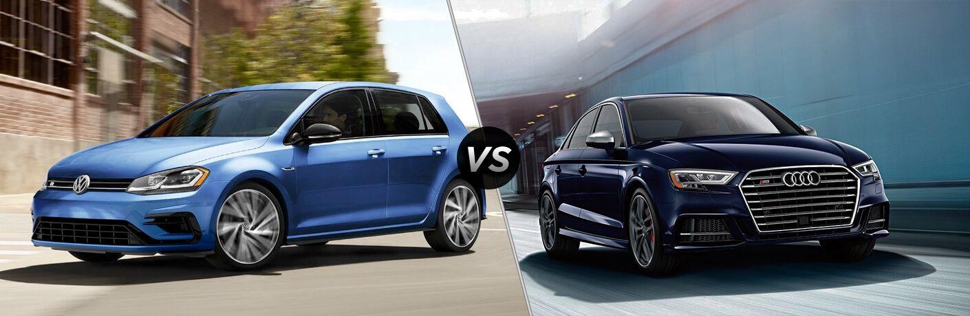 2019 Volkswagen Golf R vs. 2019 Audi S3