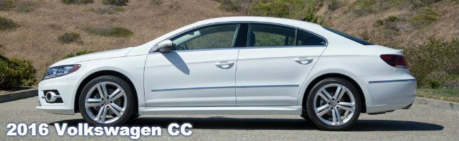 2016 VW CC features and specifications