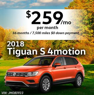 2018 Tiguan S 4motion