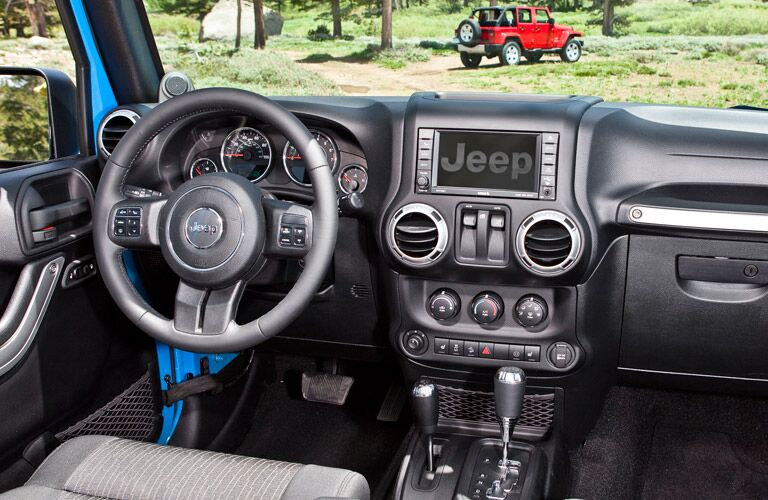 Front dash of used Jeep Wrangler