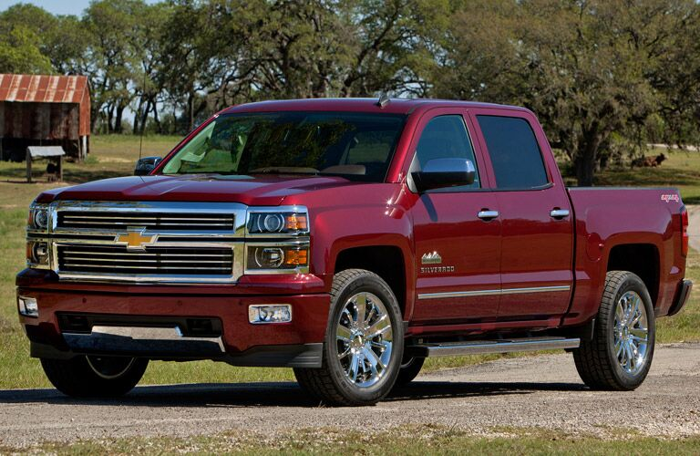 Crew cab Silverado in red