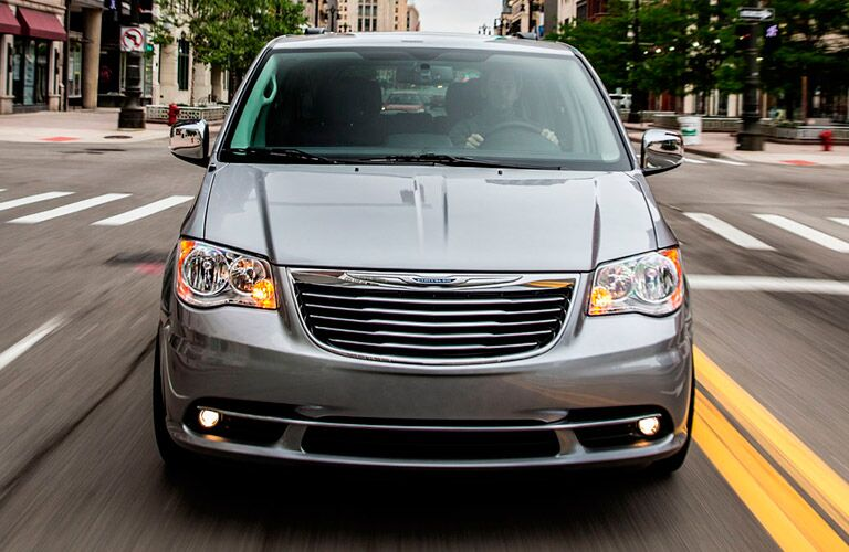 Front profile of used Chrysler Town & Country minivan