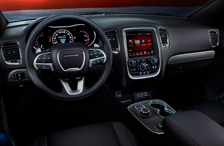 Front dash of Dodge Durango