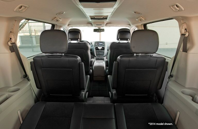 Interior of used Chrysler Town & Country minivan