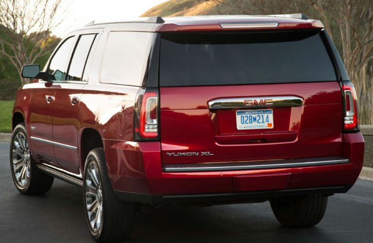 Rear profile of 2016 GMC Yukon XL