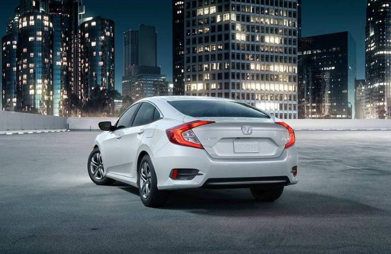 White 2016 Honda Civic sedan