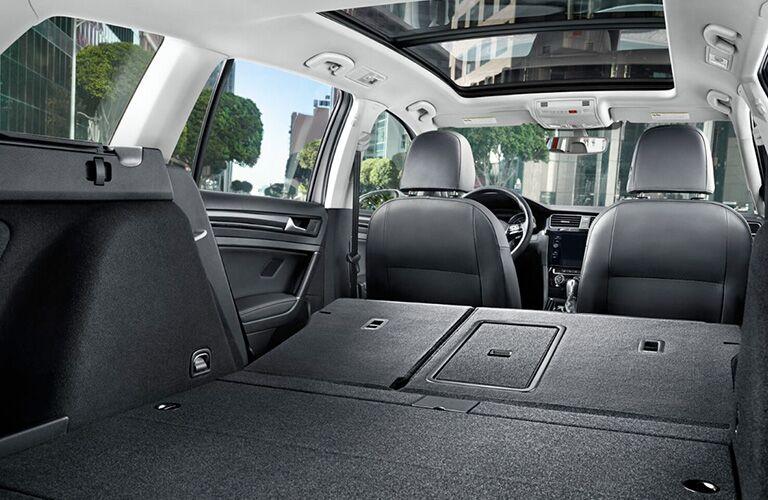 2018 Volkswagen Golf SportWagen with seats folded down