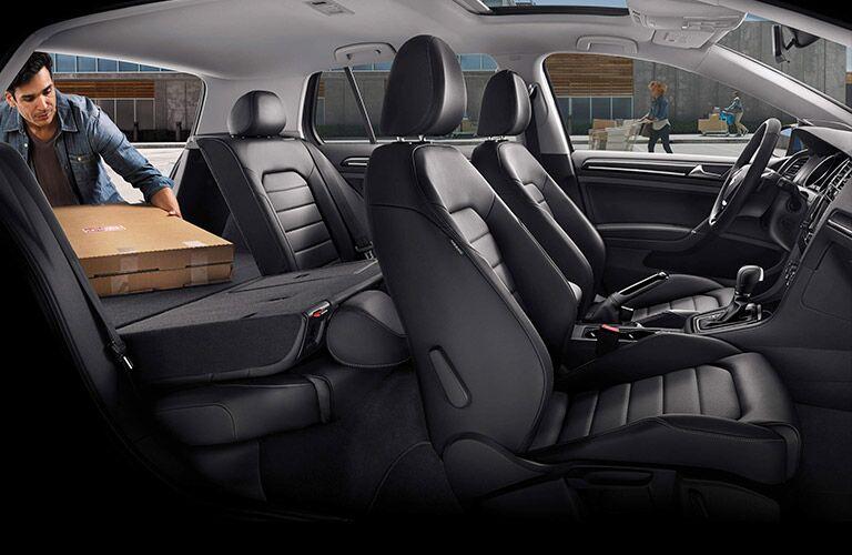 2016 volkswagen golf interior seats 60/40 split folding rear seats