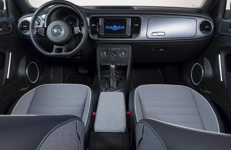 2016 Volkswagen Beetle convertible denim interior