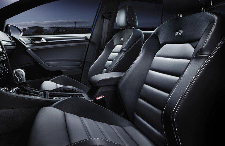 2017 volkswagen Golf R interior sport seats with logo