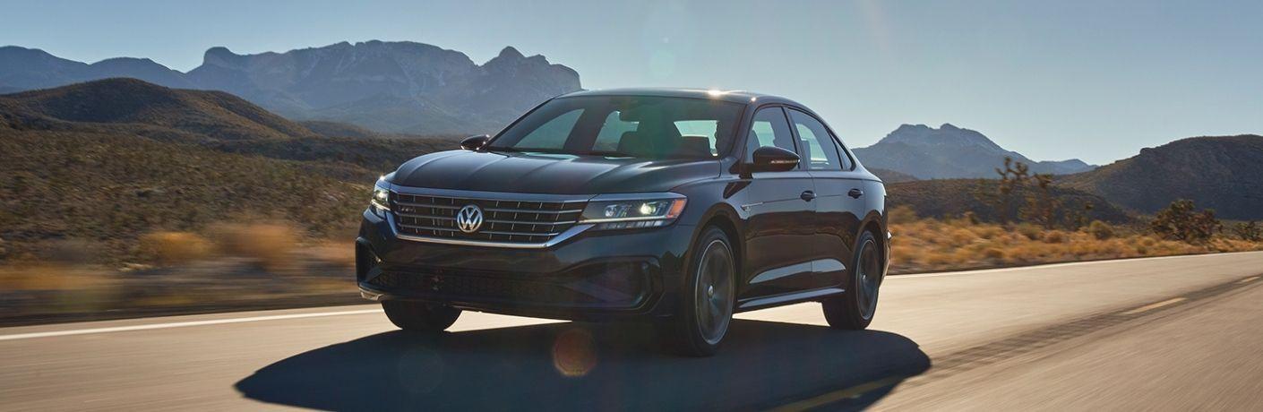 2022 Volkswagen Passat on a fast highway