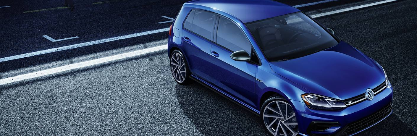 2019 Golf R parked on race track