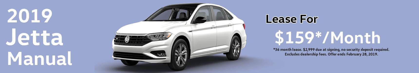 banner for the 2019 VW Jetta lease