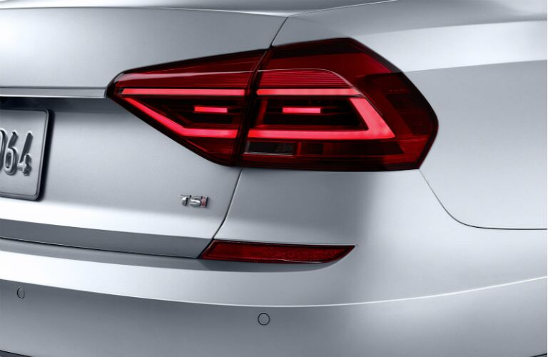 close-up of 2019 VW Passat taillight