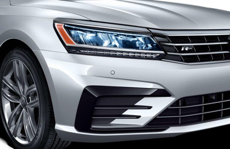 Close-up of 2019 VW Passat headlight