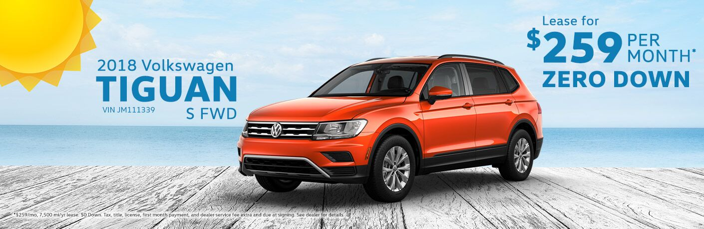 2018 Volkswagen Tiguan Lease Milwaukee Wi