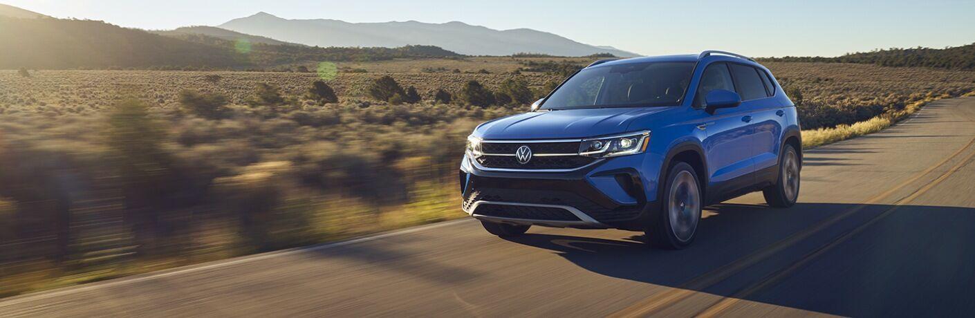 2022 Taos driving on desert road