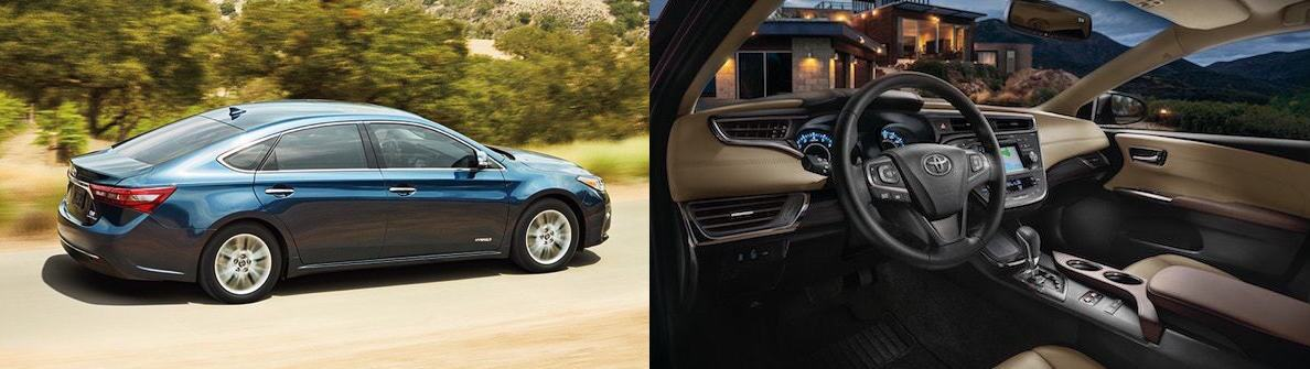 2017 toyota avalon side by side interior and exterior