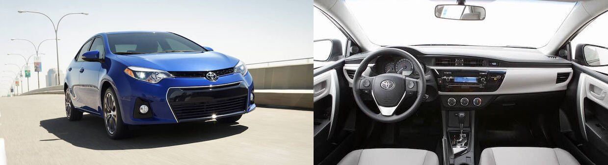 2017 toyota corolla side by side interior and exterior
