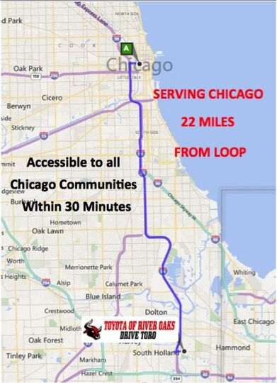 Chicago Toyota Dealership Directions