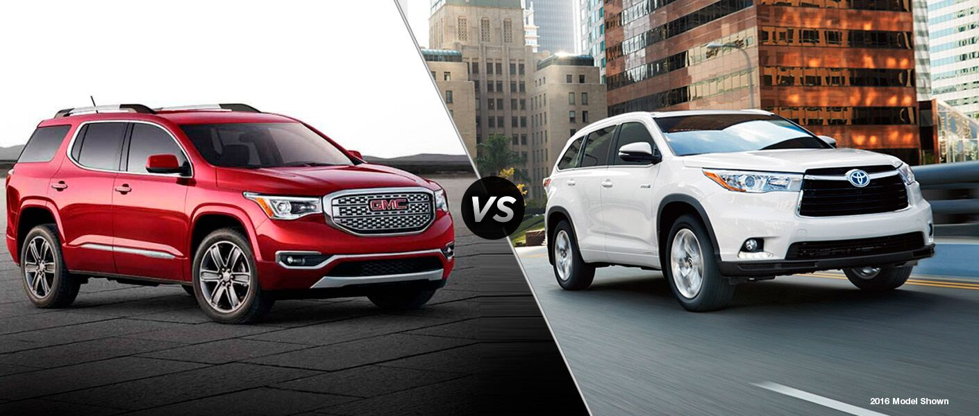 2017 gmc acadia vs 2017 toyota highlander galesburg gmc dealer