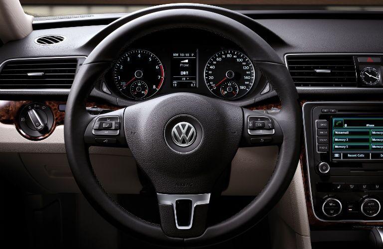 volkswagen passat 2015 interior. new vw passat interior steering wheel technology controls volkswagen 2015